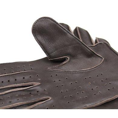 Swift racing leren handschoenen donkerbruin