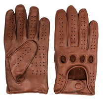racing leather gloves nappa brown