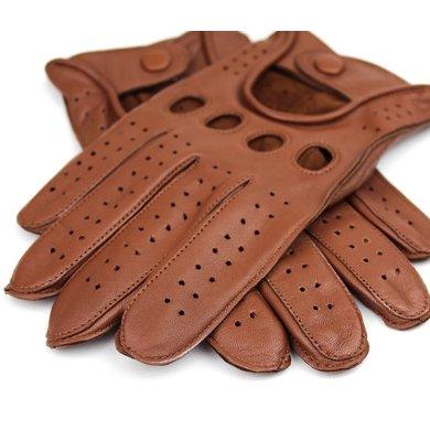 Swift racing leren handschoenen nappa bruin