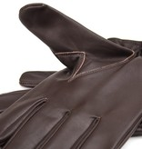 Swift classic unlined dark brown leather gloves