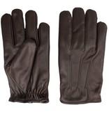 Swift classic fleece lined donkerbruin leren handschoenen