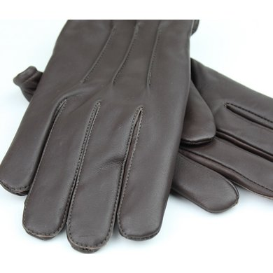Swift classic fleece lined dark brown leather driving gloves