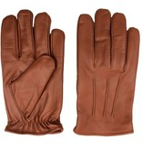 Swift classic fleece lined nappa brown leather gloves