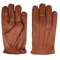 classic fleece lined nappa bruin leren handschoenen