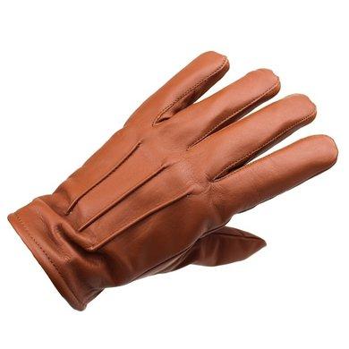 Swift classic fleece lined nappa bruin leren handschoenen