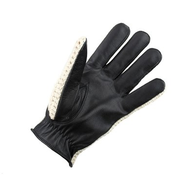 Swift vintage crochet leather gloves black