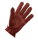 Swift vintage crochet leather gloves nappa brown