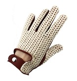 Swift vintage crochet leren handschoenen nappa bruin