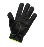 Swift racing leather gloves black-yellow