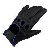 Swift racing leren handschoenen zwart-blauw