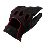 Swift racing leather gloves black-red