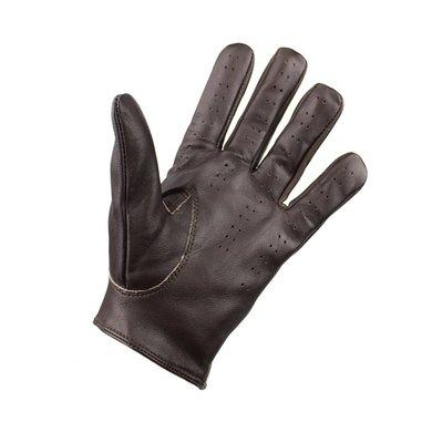 Swift retro racing  leren handschoenen donkerbruin