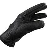 Swift retro racing mesh leren handschoenen zwart
