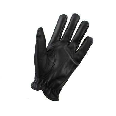 Swift classic unlined black leather gloves