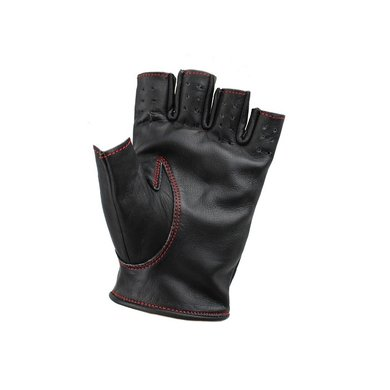Swift racing fingerless leather gloves black-red