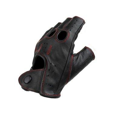 Swift racing  vingerloze leren handschoenen zwart-rood