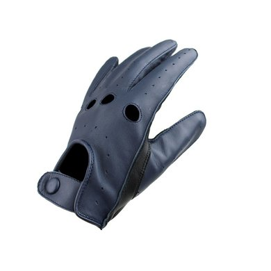 Swift driver leather gloves black-blue