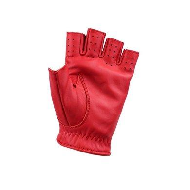 Swift racing  vingerloze leren handschoenen rood