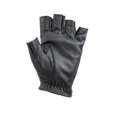 Swift racing fingerless leather gloves black
