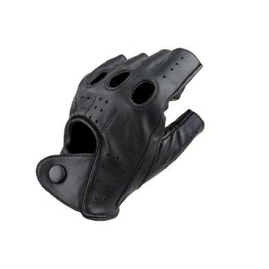 Swift racing  vingerloze leren handschoenen zwart