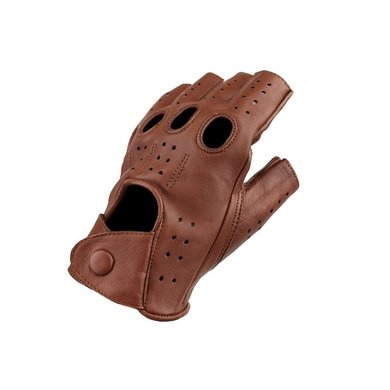 Swift racing fingerless leather gloves nappa brown