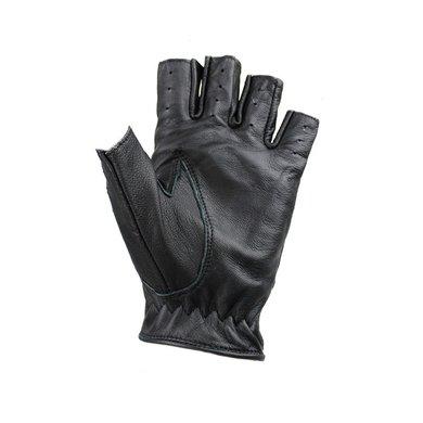 Swift driver fingerless leather driving gloves black