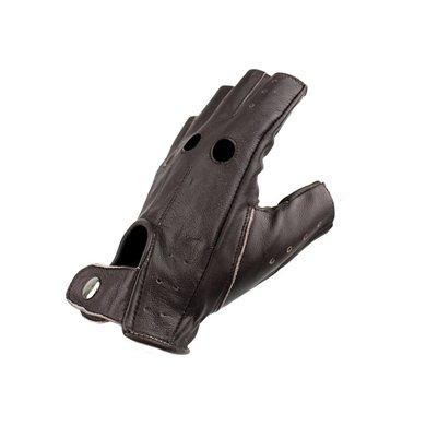 Swift driver vingerloze leren handschoenen donkerbruin