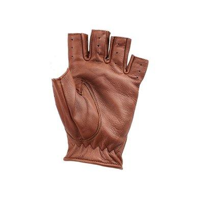 Swift driver vingerloze leren handschoenen nappa bruin