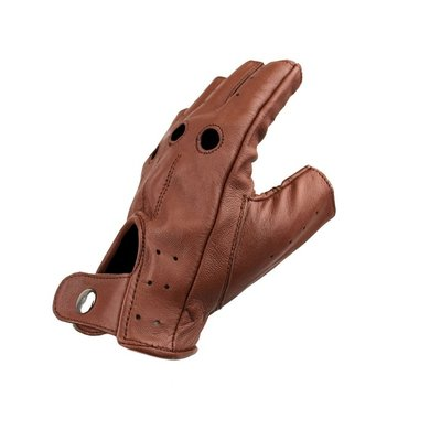 Swift driver fingerless leather gloves nappa brown