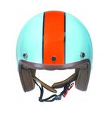 Redbike RB-764 retro open face helmet blue-orange