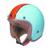 RB-764 retro open face helmet blue-orange