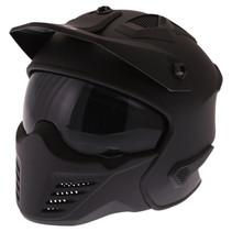 storm mat zwarte jet - full face helm