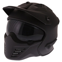 storm matt black jet - full face helmet