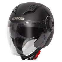 lycan plain black jet helmet
