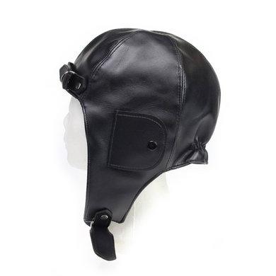 Zwarte pilotenmuts met motorbril