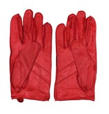 Laimböck manly red leather driving gloves men