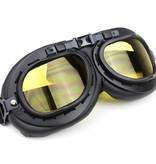 CRG black motor goggles