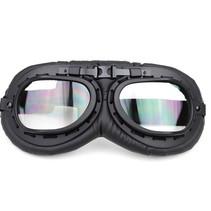 zwarte motorbril