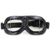 black pilot goggles