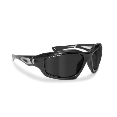 Bertoni polarized P1000A motorbril zwart - smoke glas