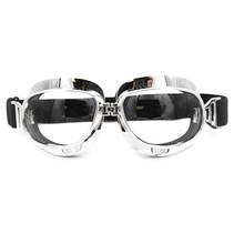 chrome aviator goggles