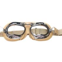 mark 49 creme pilotenbril helder glas