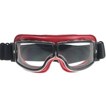 red leather cruiser motor goggles