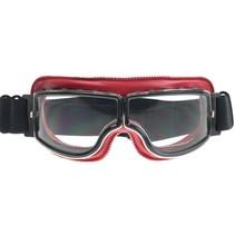 rood leren cruiser motorbril