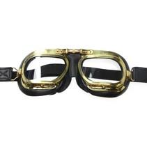mark 7 retro, antieke motorbril zwart