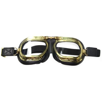 Halcyon mark 7 retro, antieke motorbril zwart