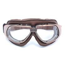 vintage, bruin leren motorbril