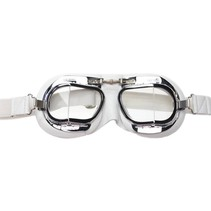 mark 49 white pilot goggles clear glass
