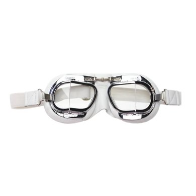 Halcyon mark 49 white pilot goggles clear glass