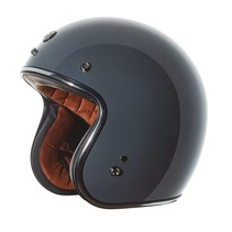 T-50 retro open face helmet gloss grey